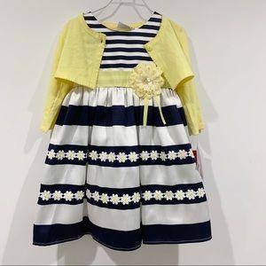 Blueberi Boulevard daisy floral Easter dress top